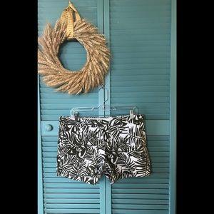 Kenar Palm Leaf Print Shorts
